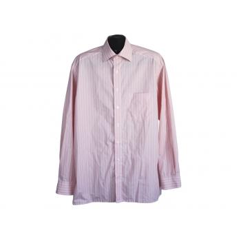 Рубашка мужская коралловая в полоску OLYMP LUXOR, XL