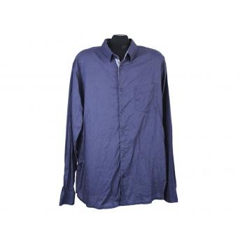 Рубашка льняная синяя мужская LIVERGY, XL