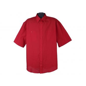 Рубашка красная мужская HENRY MORELL, XL