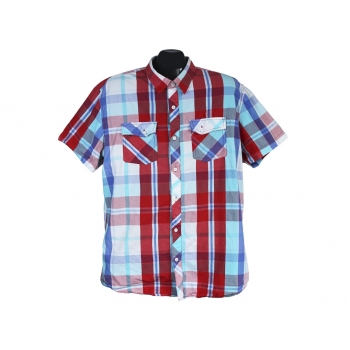 Рубашка приталенная мужская в цветную клетку SMOG, L