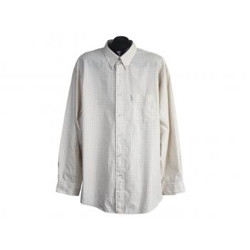 Рубашка бежевая в клетку мужская BEN SHERMAN, XL