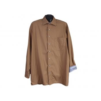 Рубашка коричневая однотонная мужская OLYMP LUXOR, XXL