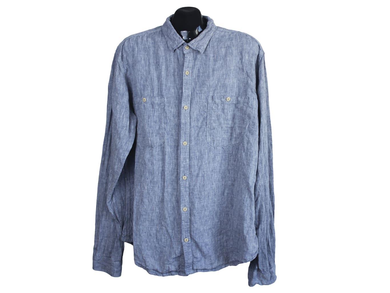 Рубашка льняная мужская NEXT SHIRTING, XL
