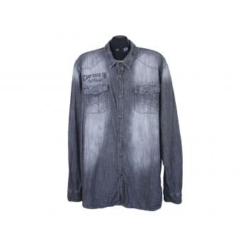 Рубашка джинсовая серая мужская CAMP DAVID, XXL