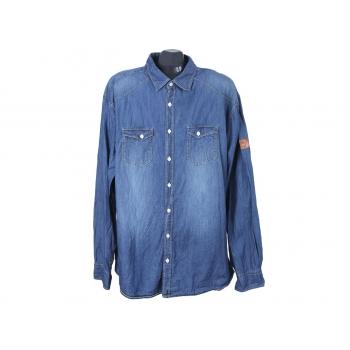 Рубашка джинсовая мужская DETROIT EAGLE DENIM, XXL