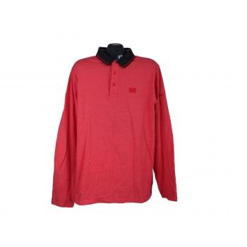 Поло мужское красное с длинным рукавом KAUFLAND, XL