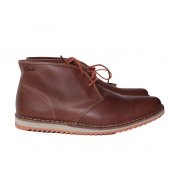 Ботинки кожаные мужские коричневые CLARKS 43 размер