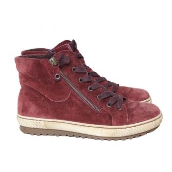 Ботинки замшевые женские бордовые GABOR 36 размер