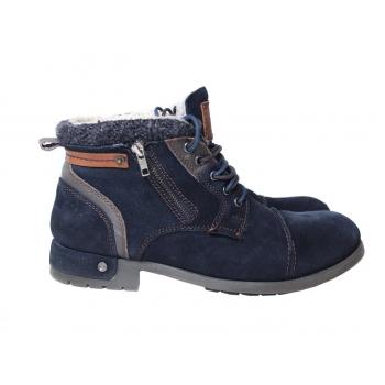 Ботинки на меху замшевые мужские BUGATTI 43 размер