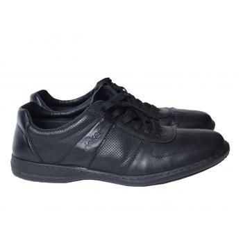 Туфли кожаные мужские черные RIEKER 44 размер