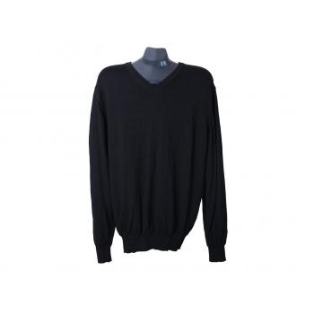 Пуловер шерстяной мужской черный JASPER CONRAN, L