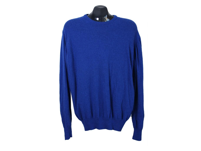 Джемпер шерстяной мужской синий ZARA, XL
