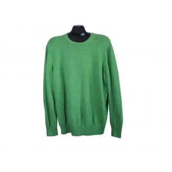 Джемпер кашемировый мужской зеленый GRAN SASSO, XL