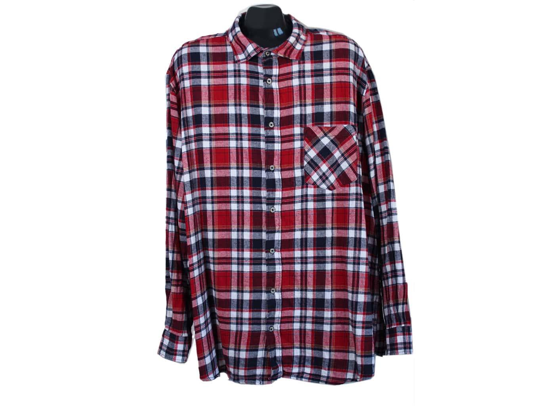 Рубашка теплая в клетку мужская REWARD, 3XL