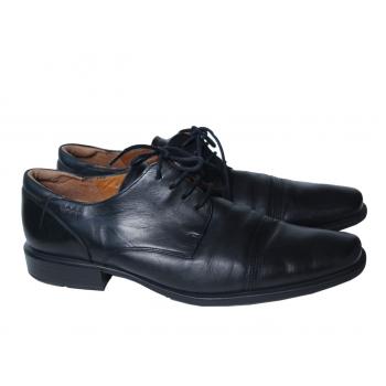 Туфли кожаные мужские черные ECCO 46 размер