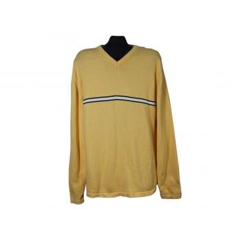 Пуловер мужской желтый из хлопка NAUTICA, XL