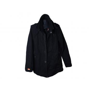 Куртка демисезонная мужская черная SUPERDRY, L