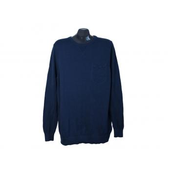 Джемпер мужской тонкий из хлопка синий LIVERGY, L