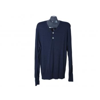 Пуловер шерстяной мужской синий ARTU NAPOLI, L