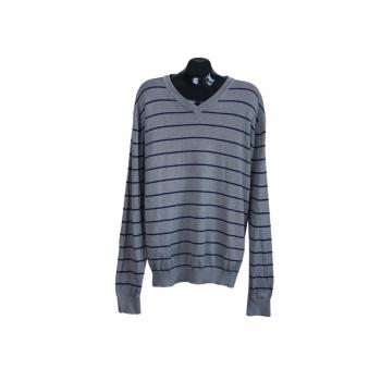 Пуловер мужской из хлопка в полоску BATISTINI, XL