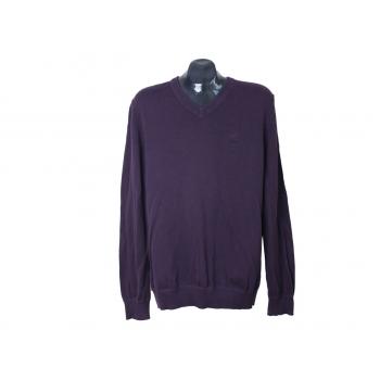 Пуловер из хлопка фиолетовый мужской S.OLIVER, L