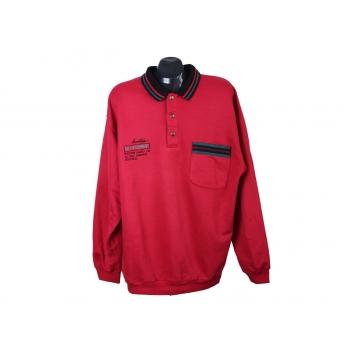 Кофта мужская красная с воротником поло CAMPAGNOLO SPORT, XL