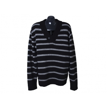 Пуловер шерстяной с шалевым воротником мужской ELLOS MAN, XL