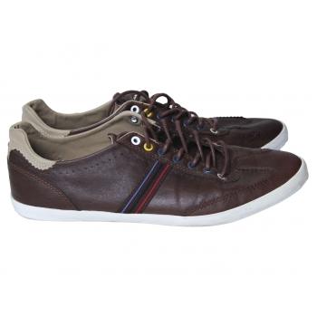 Кеды кожаные мужские коричневые ZARA 45 размер