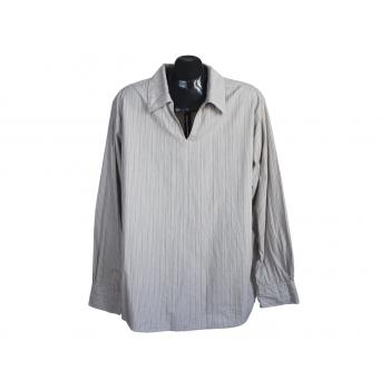Мужская бежевая рубашка в полоску SOUTH, L