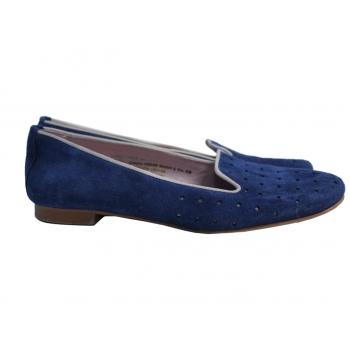 Лоферы замшевые женские синие LAURA KENT 38 размер
