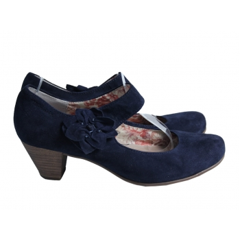 Туфли замшевые женские синие TAMARIS 38 размер