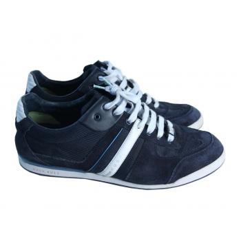 Кроссовки мужские синие замшевые HUGO BOSS 44 размер