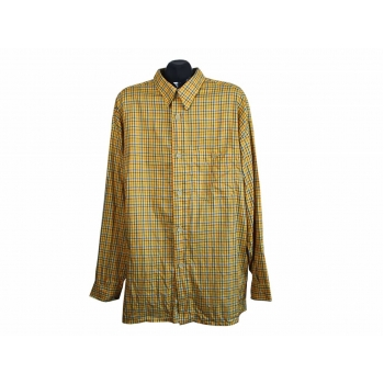 Рубашка мужская оранжевая в клетку SIGNUM, XXL