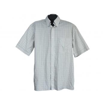 Мужская бежевая рубашка в клетку ETERNA EXCELLENT, L