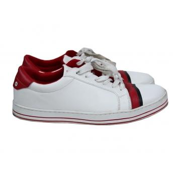 Кроссовки кожаные мужские белые BENETTON 45 размер