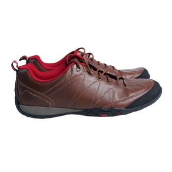 Кроссовки кожаные коричневые женские 42 размер