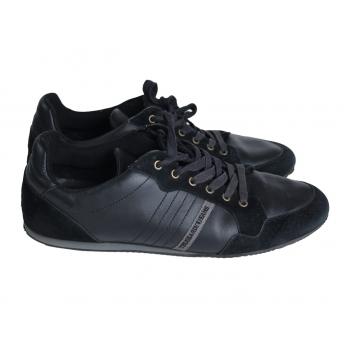 Кроссовки кожаные мужские черные TRUSSARDI JEANS 45 размер