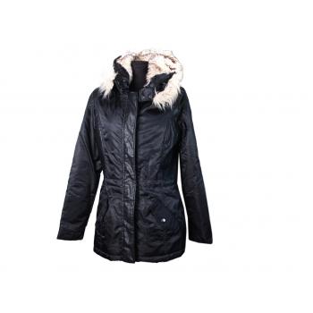 Куртка женская с капюшоном черная ZEBRA, S