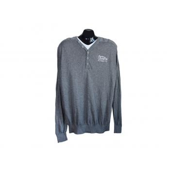 Пуловер мужской серый IDENTIC, XL