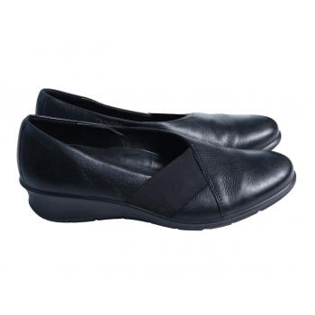 Туфли кожаные женские черные ECCO 38 размер