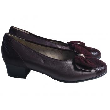 Туфли кожаные женские бордовые GOLDKRONE 37 размер