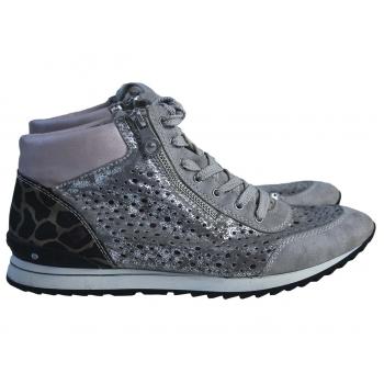 Ботинки женские кожаные с перфорацией RIEKER 38 размер