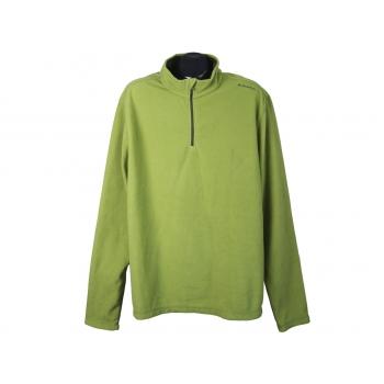 Кофта флисовая зеленая мужская QUECHUA, XL