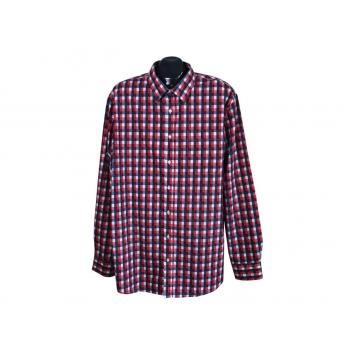Рубашка мужская красная в клетку ANGELO LITRICO, XXL