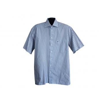 Рубашка мужская голубая в полоску ENRICO MORI, XL