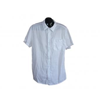 Рубашка белая льняная мужская ENOS JEANS, L