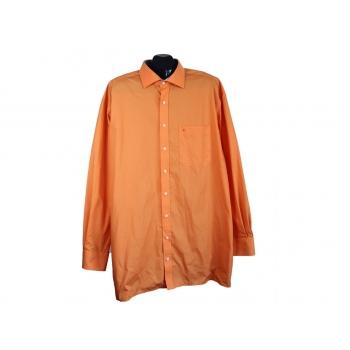 Рубашка мужская однотонная оранжевая ETERNA, 3XL
