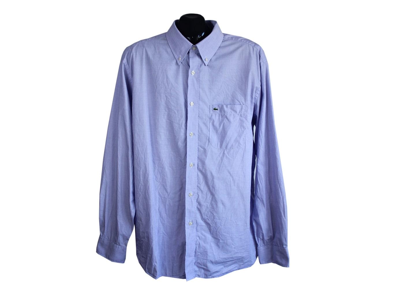 Рубашка однотонная фиолетовая мужская LACOSTE, XXL