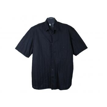Рубашка мужская черная KINGS ROAD, XL