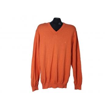 Пуловер из хлопка оранжевый мужской REDMOND, L